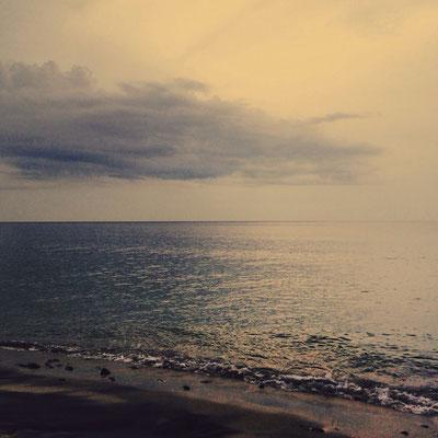 coucher de soleil plage du pacifique