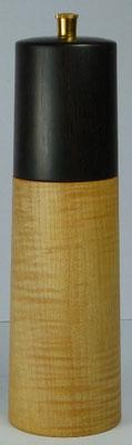 Pfeffermühle Riegelahorn / Ebenholz ca. 19 cm