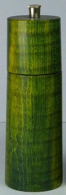 Pfeffermühle Riegelahorn, grün stabilisiert ca. 14,5 cm