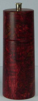 Pfeffermühle Finnische Maserbirke, rot stabilisiert ca. 14,5 cm