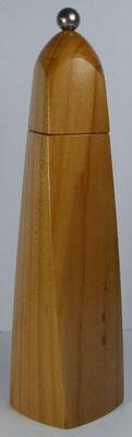 Pfeffermühle aus Kirsche, gewundene Form, ca. 25,5 cm hoch