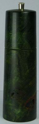 Pfeffermühle, Pappel Maser, grün stabilisiert ca. 18,5 cm