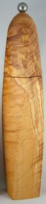 Pfeffemühle Olivenholz, gewundene Form, ca. 28 cm hoch