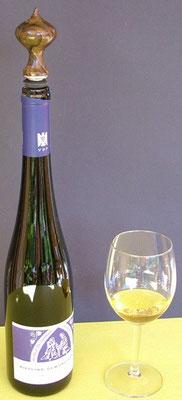 gedrechselter Weinflaschenverschluss auch für Rieslingflaschen