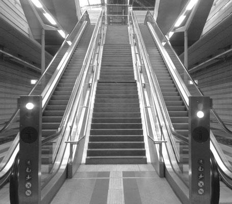 Rolltreppe zum Leipziger Tiefbahnhof