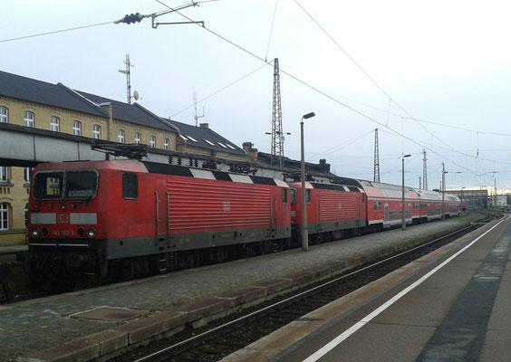 abgestellte Züge in Halle (Saale) Hbf