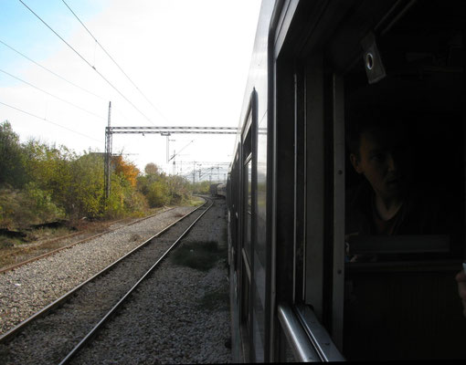 im Zug Bar-Belgrad