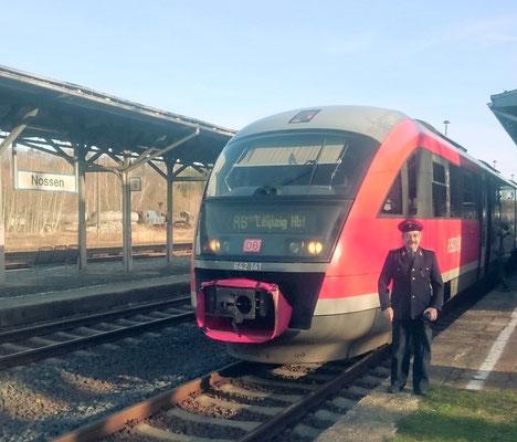 Zugführer in historischer Uniform in Nossen