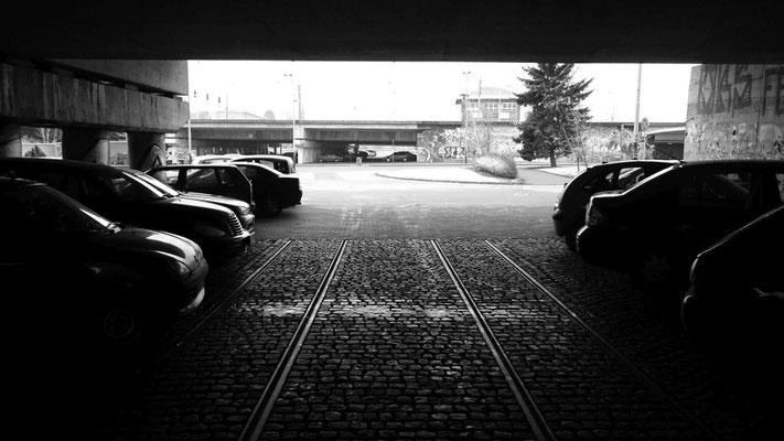 zweckentfremdetes Tram-Gleis