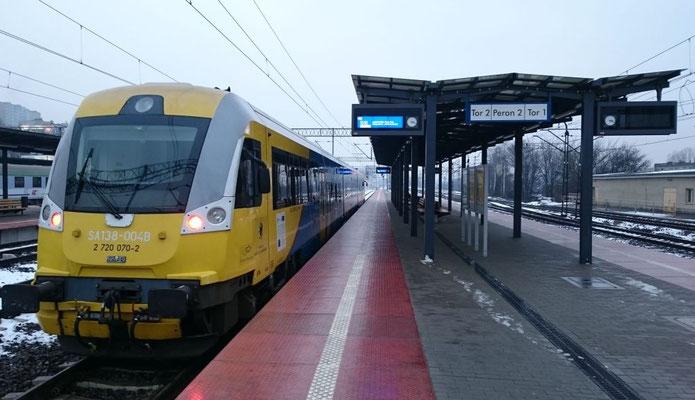machte Mätzchen: Triebwagen SA 138 nach Hela