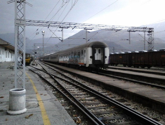 Bereitstellung des Nachtzuges nach Belgrad