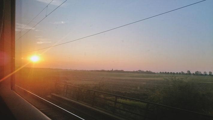 Sonnenaufgang bei Großkorbetha