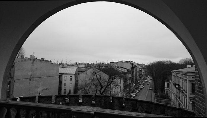 Blick in die Stadt hinein