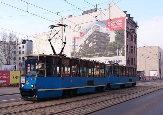Straßenbahn in Breslau