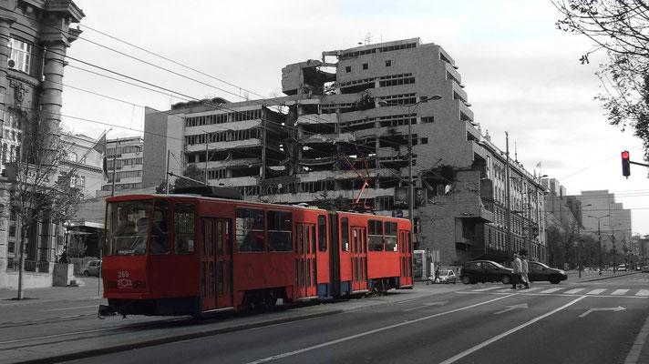 Belgrad, bombardiertes Verteidigungsministerium