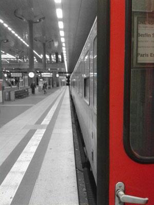 Ankunft des letzten Nachtzuges aus Paris