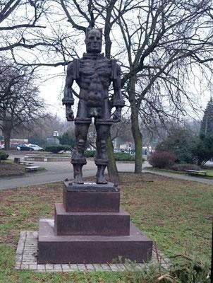 Denkmal des berühmtesten Landstreichers der Stadt
