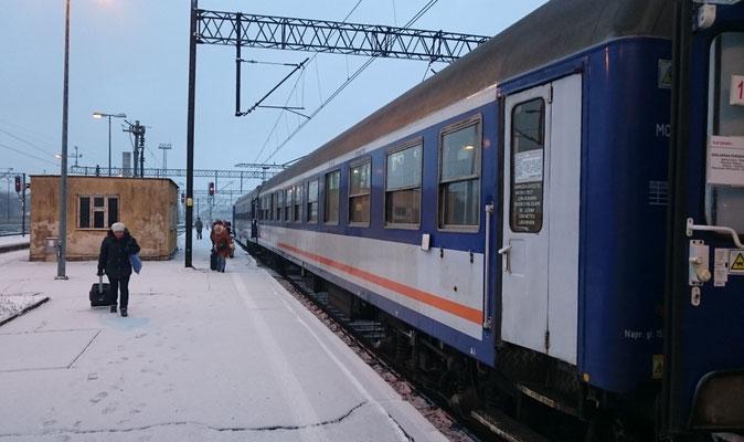 die Schlafwagen müssen in Jelenia Gora bleiben