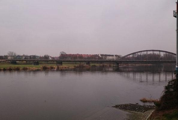 Warthebrücke, Strecke nach Neu Bentschen