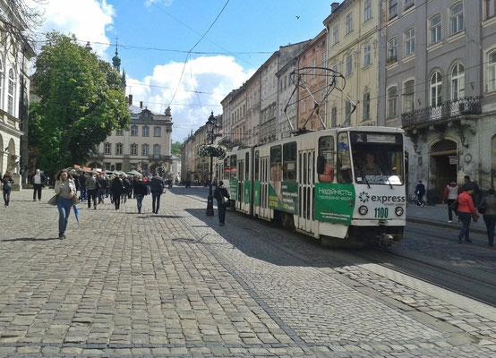 Straßenbahn am Rynok