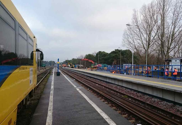 derzeit wird am Bahnhof noch viel gebaut