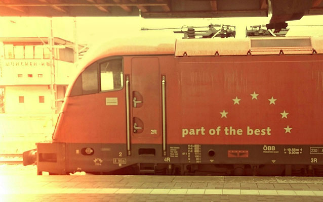 Taurus der ÖBB am Zug nach Venedig