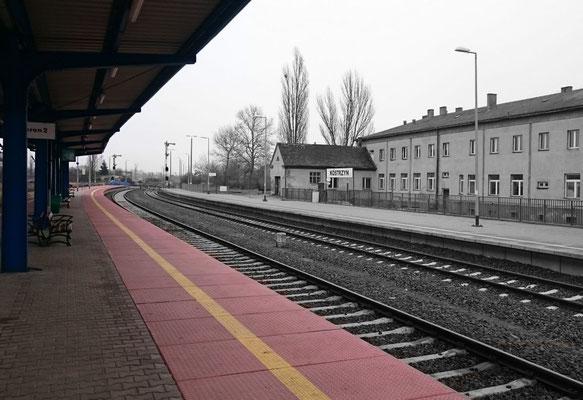Bahnhof Küstrin, in Richtung Osten noch mit Formsignalen