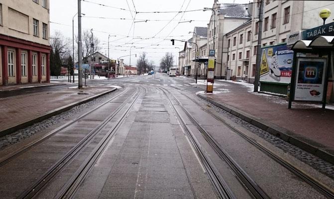 Dreischienengleis in Liberec