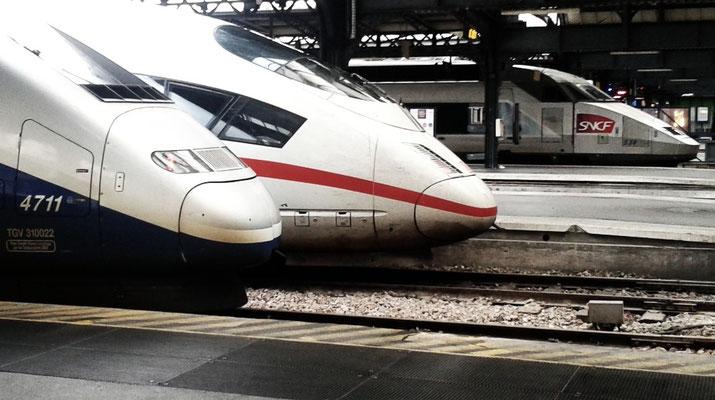TGV und ICE im Pariser Ostbahnhof