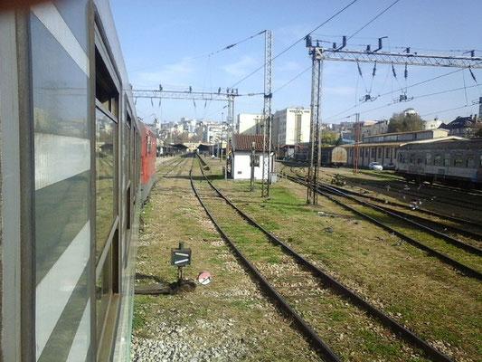 Einfahrt Belgrad Hbf