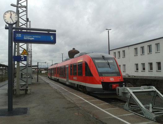 Harz-Weser-Bahn im Bahnhof Nordhausen