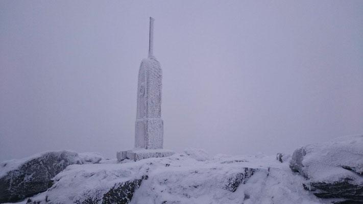 der Gipfel, etwas höher als der Brocken