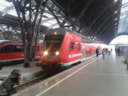 RE aus Dresden nach Ankunft in Leipzig