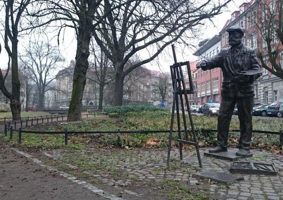 Maler in einem Park