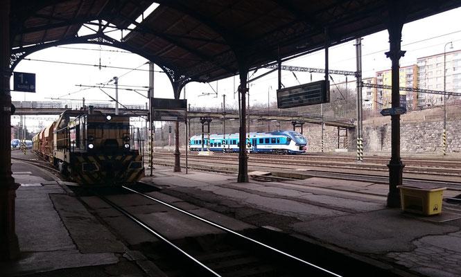durchfahrender Güterzug