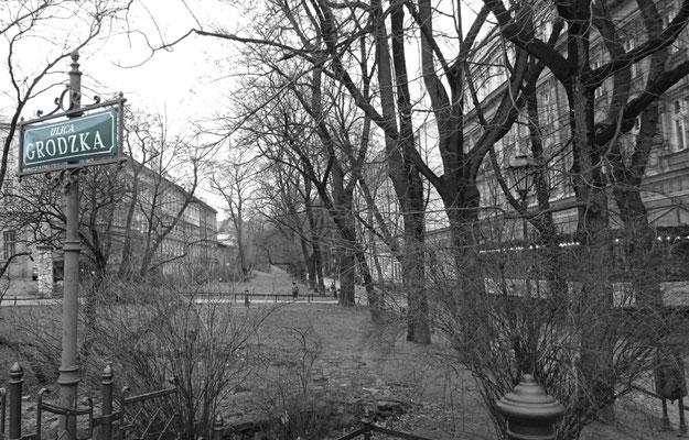 Krakau, Blick in eine Seitenstraße