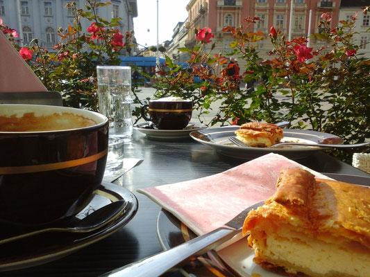 Frühstück, draußen