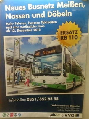 Werbung für neues Busnetz