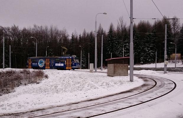 Wendeschleife der Straßenbahn