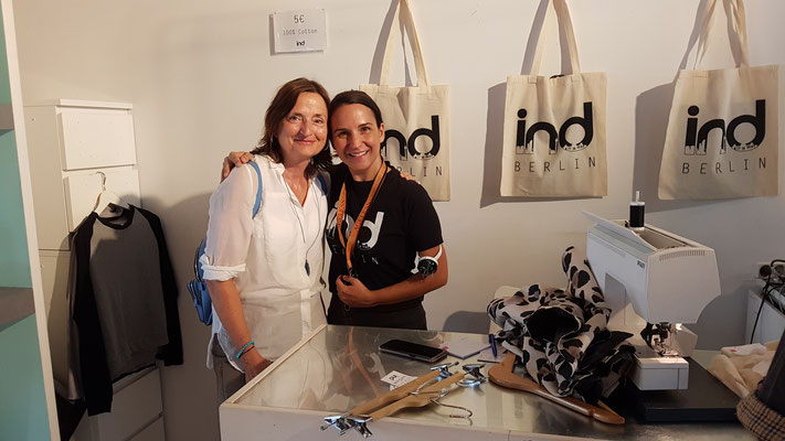 Veronika Bellone & Nina Walter im IND-Berlin 2019 ©  Bellone Franchise Consulting GmbH
