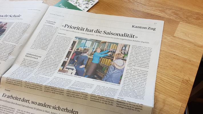 Bericht in der Zuger Zeitung