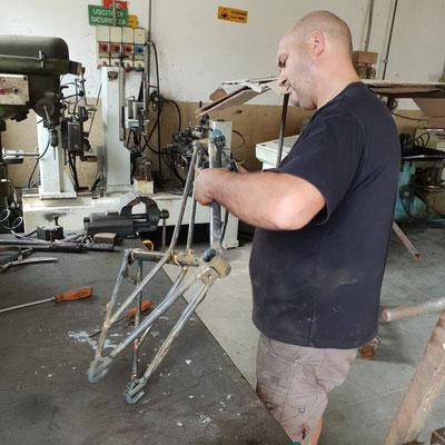 Glanzrad gemuffter Stahlrahmen handmade in Italy #bicycle #glanzrad #bicycle vienna #fahrrad wien