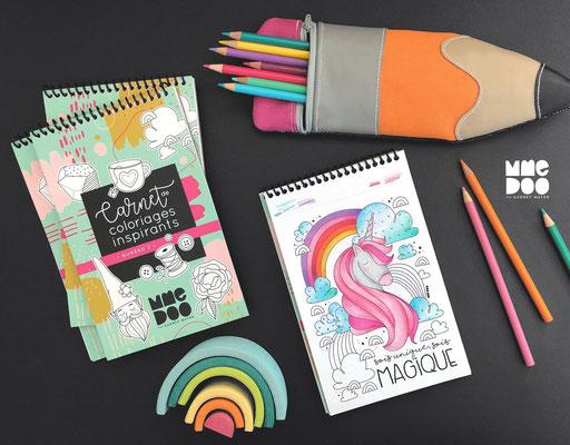Cahier de coloriages inspirants de Mme Doo, 17$