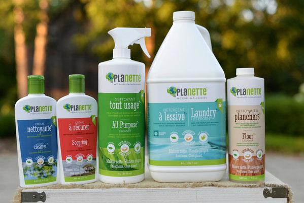 Ensemble de produits écologiques Planette
