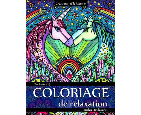 Ensemble de coloriages thérapeuthiques de Créations Joëlle Mercier, 17$