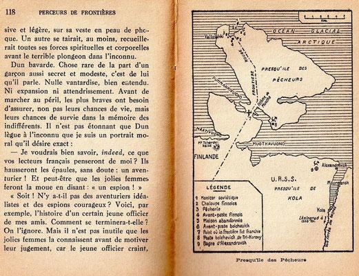 Carte Perceurs de Frontières Xavier de Hauteclocque 1932-33