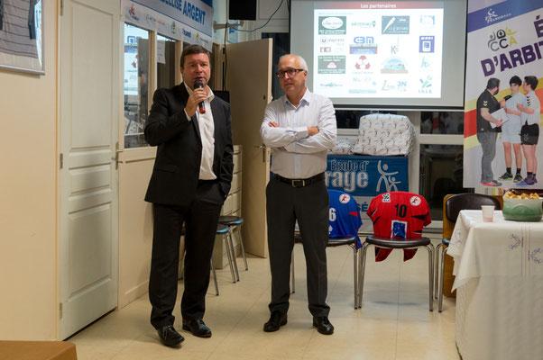 Monsieur le Maire d'Isle, Gilles Bégout et notre Président de club, Bruno Barelaud