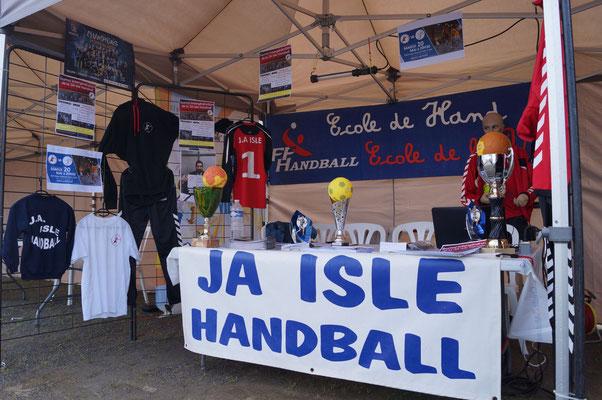 Stand de la JA Isle Handball