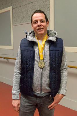 Denis Delanaud et sa médaille d'or