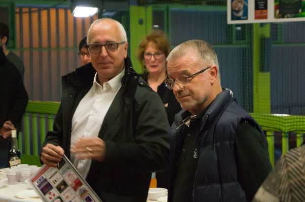 Bruno Barelaud, président de la JA Isle Handball et Jacques Boisse le trésorier du club